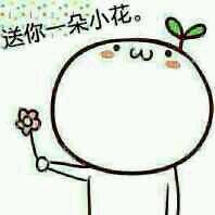 呐,花花送给你表情包下载,送你一把小花!图片