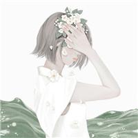 有植物的微信手绘唯美女生头像云落泪了风会吹干它 微信头像 微茶网