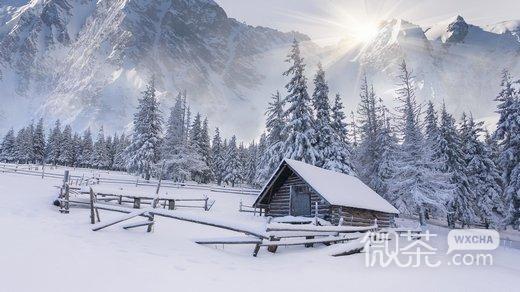 冬季风景唯美伤感微信高清图片 冰魂雪魄
