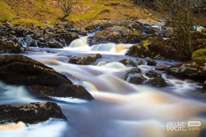 山涧流水微信高清图片 自然风景