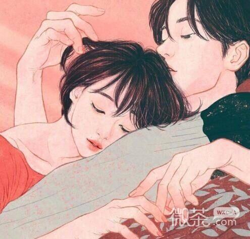 手绘情侣头像_微信头像_微茶网
