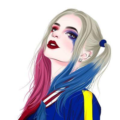帅气迷人小丑女系列微信女生头像