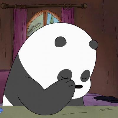 萌萌哒熊猫人系列微信头像