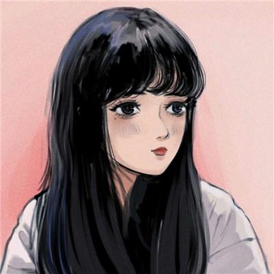 唯美水彩风格微信女生素描头像下载