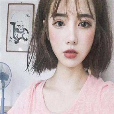 可爱迷人短发美少女系列微信头像下载