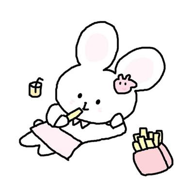 可爱简笔画风格小兔子微信头像下载