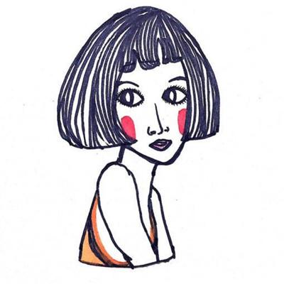 可爱搞怪微信卡通手绘情侣头像下载