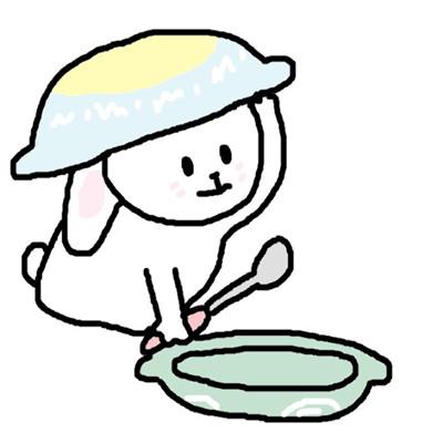 可爱萌萌哒的卡通手绘兔子头像下载