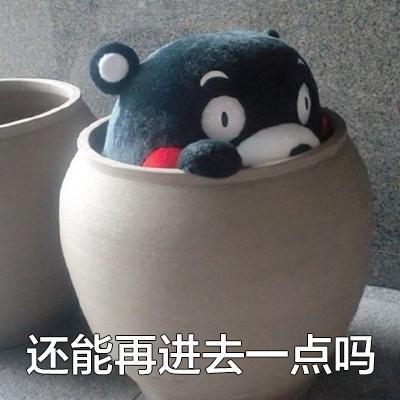 搞笑污污的微信熊本熊买鞋表情下载你吼我表情包图片