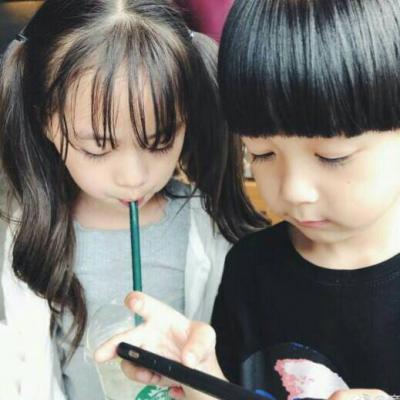 2018微信最新独一无二萌娃系列情侣头像下载