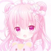 可爱唯美粉色系微信动漫二次元情侣头像合集下载