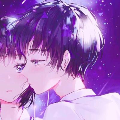 个性唯美微信二次元动漫情侣头像下载