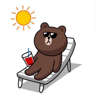 布朗熊和可妮兔卡通微信头像