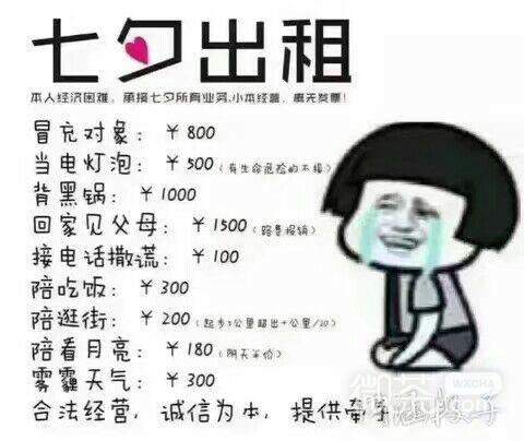 七夕出租微信恶搞表情包