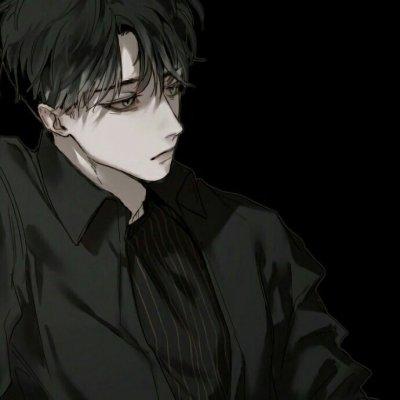微信黑暗系男生头像