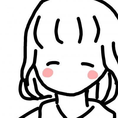 微信黑白简笔画女生头像