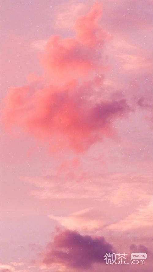 微信唯美粉色云朵聊天背景