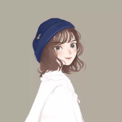 微信动漫手绘女生插画头像