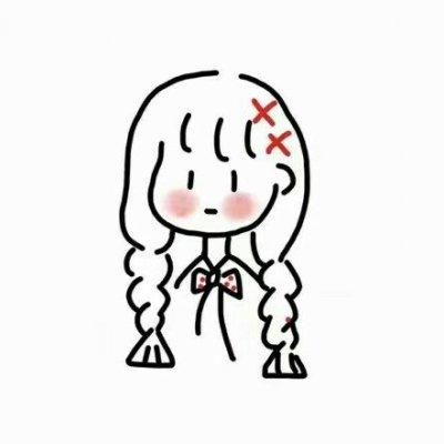 微信简约手绘女生卡通动漫头像