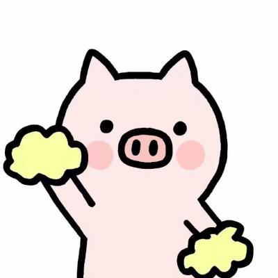 微信简约插画小猪头像