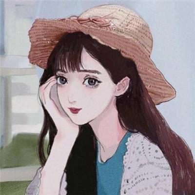 微信简单大方手绘女生头像