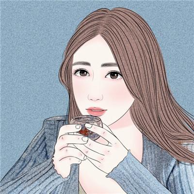 微信唯美小清新女生插画头像