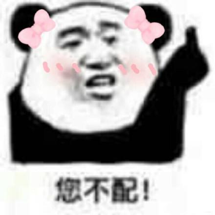 微信熊猫头配钥匙逗比表情包图片
