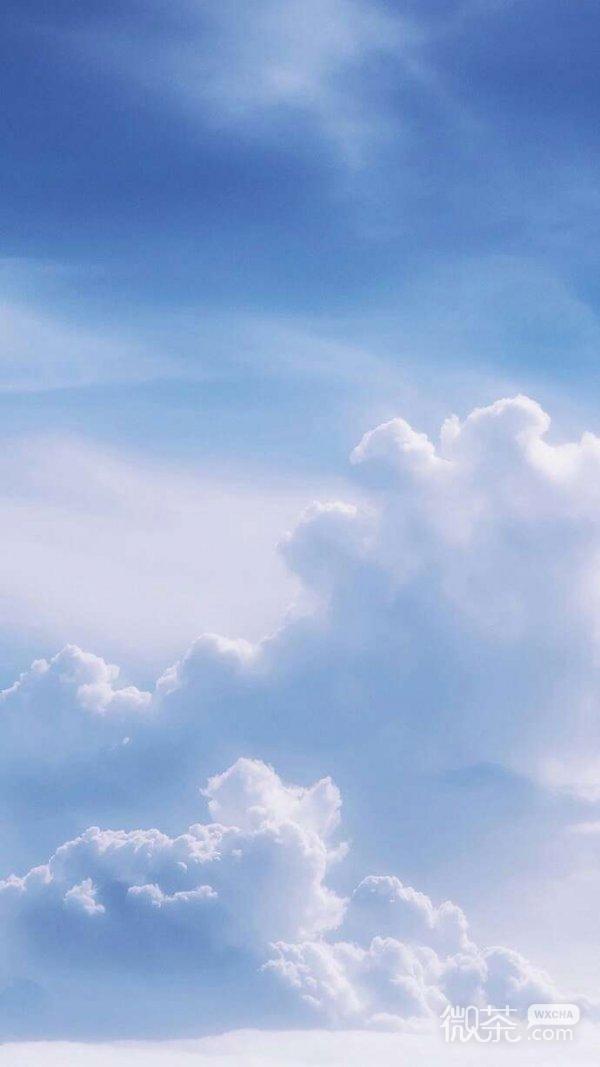 微信唯美个性云朵聊天背景