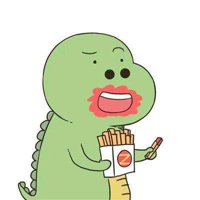 微信个性可爱卡通恐龙头像图片