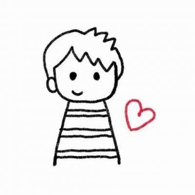 微信简约手绘情侣头像