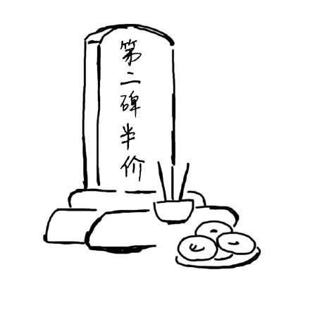 烈士墓碑简笔画黑板报