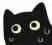 微信黑猫表情小表情表情包图片
