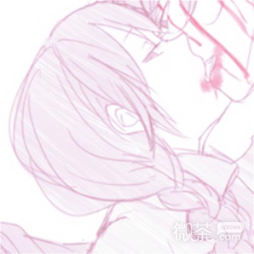 微信佛系浪漫好看粉嫩二次元情侣头像
