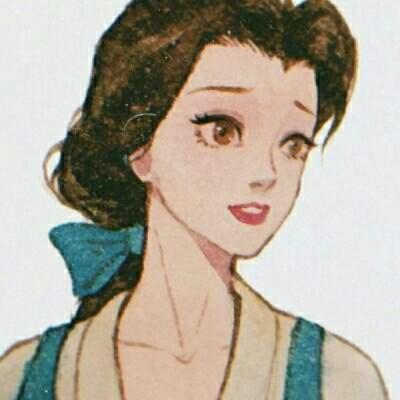 可爱复古风的微信迪士尼公主头像合集下载