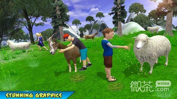 学校儿童丘陵野餐冒险